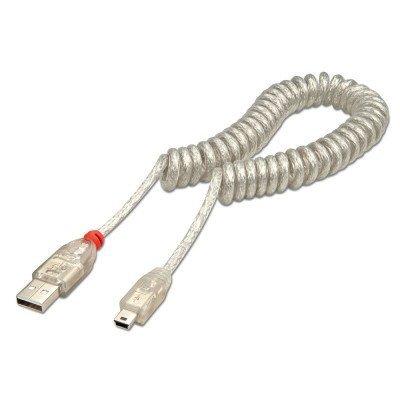 LINDYのカール型USBケーブルの写真です。