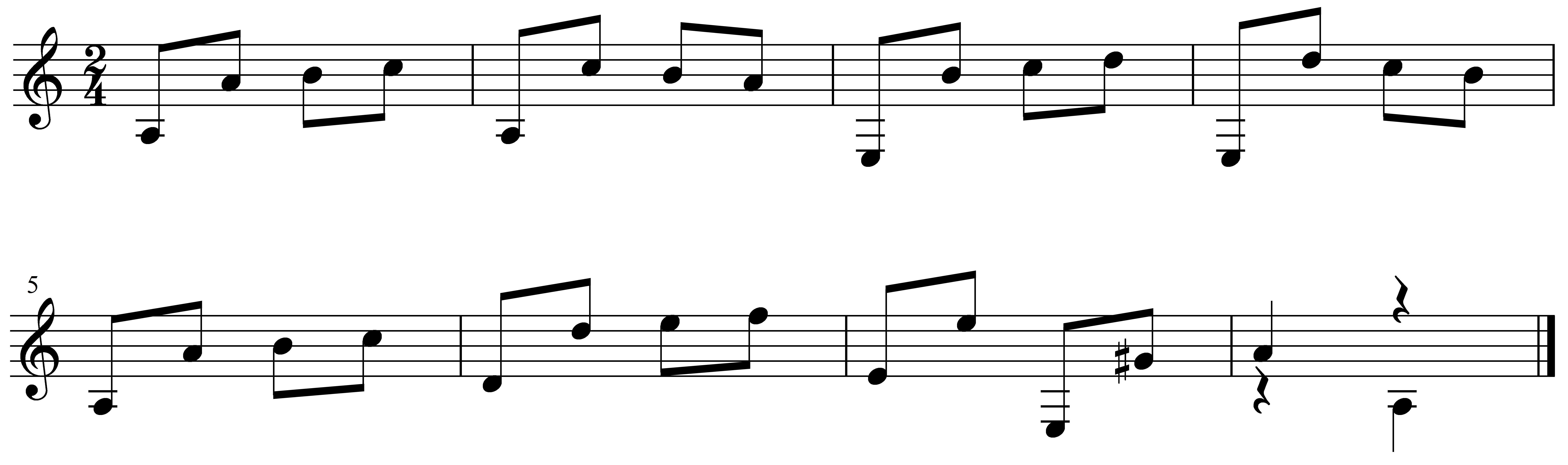 アントニオカーノのエチュードの楽譜です