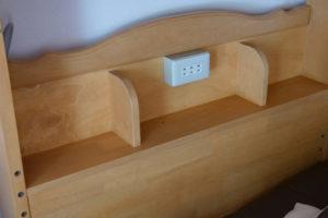 ベッドのコンセント