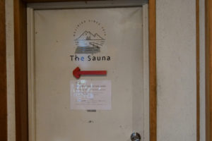 THE SAUNA入り口