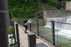 苗名滝の吊橋