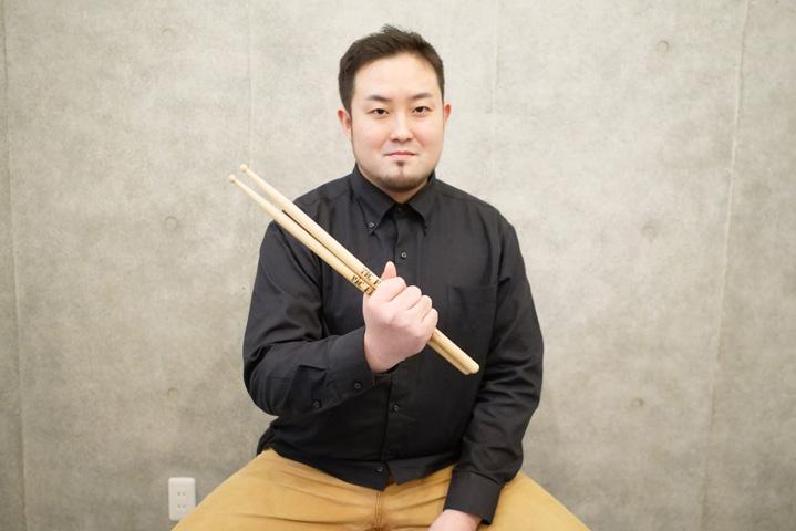 ドラム講師の福見創太先生